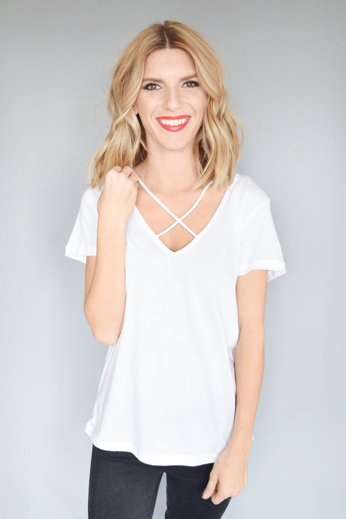 Womens Online Milky Way Strappy Tee Ivory