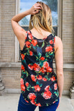 Affordable summer florals chiffon tank