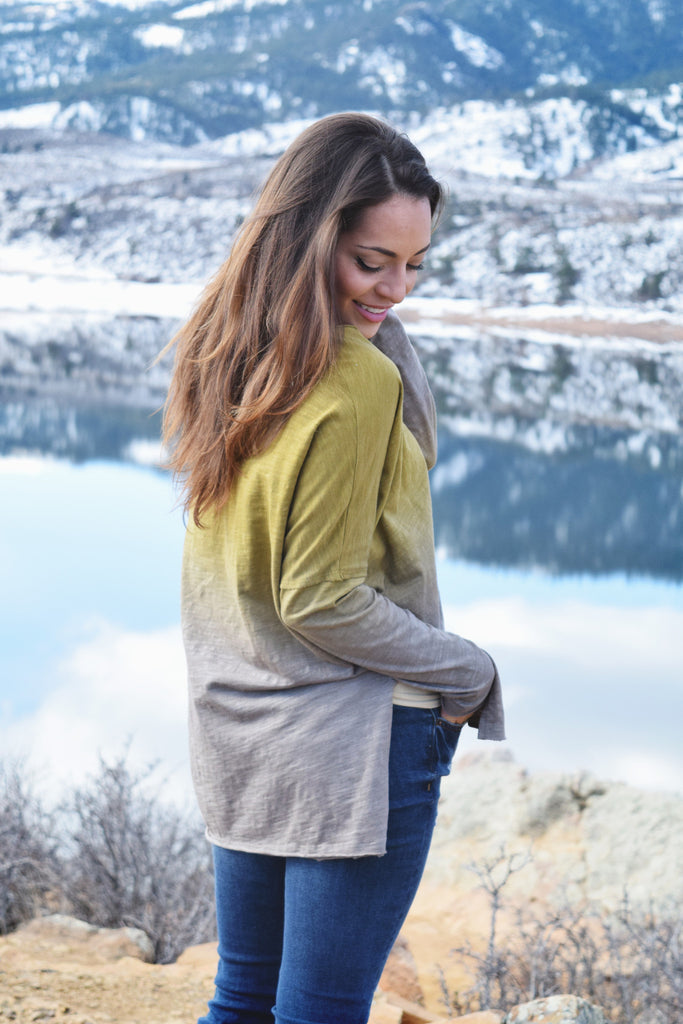 Womens Clothing to dye for long sleeve top mustard