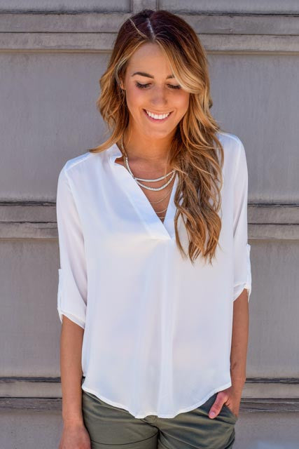 Cute pop of professional chiffon top