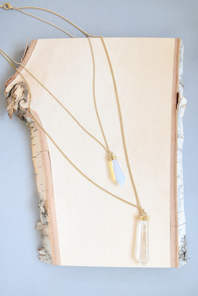 Affordable Online Layered Crystals Necklace
