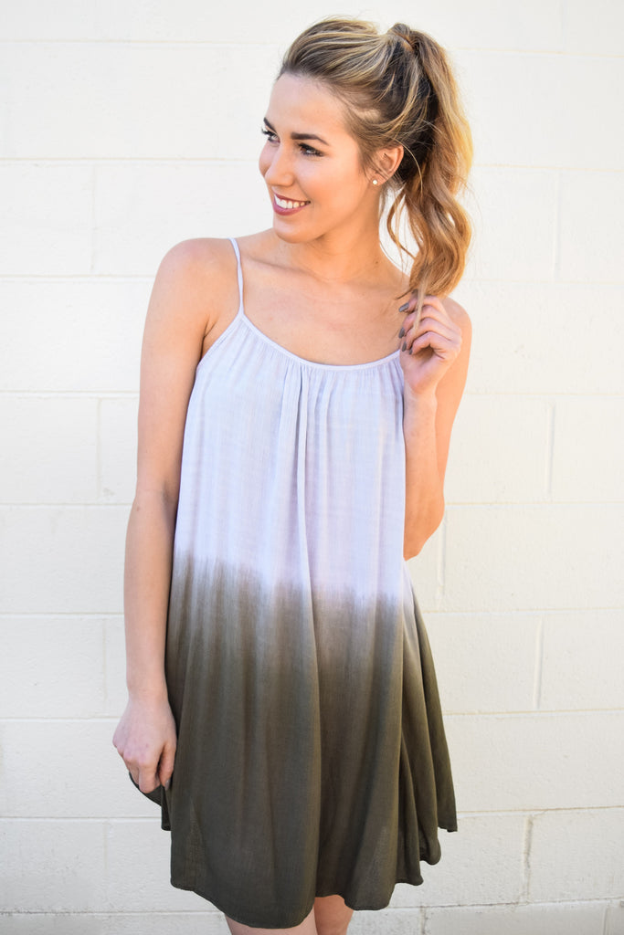 Colorado Chic Take A Dip Olive Dress