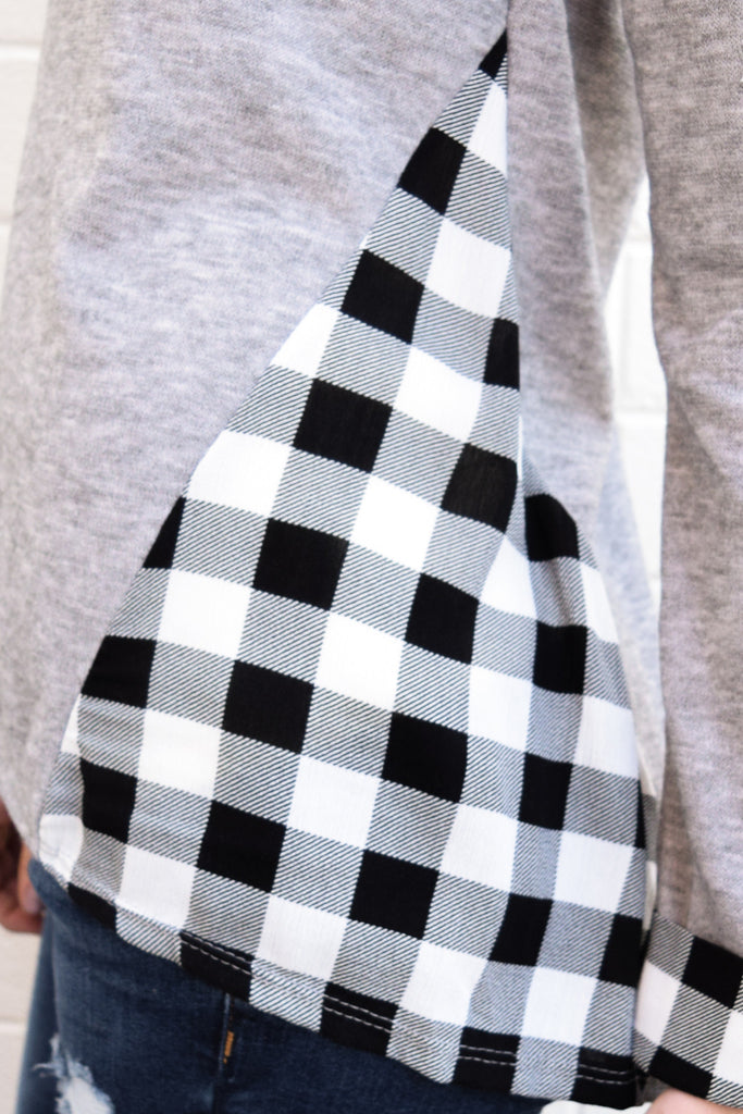 Affordable Online mountain peak plaid detail top