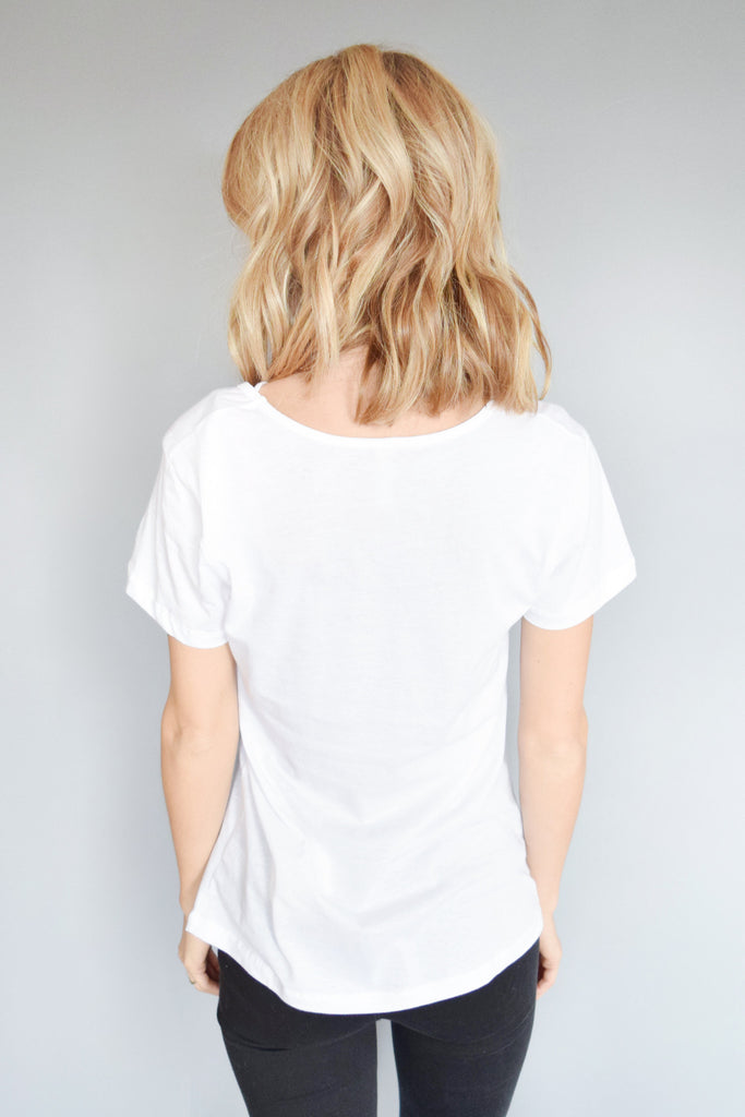 Cute Online milky way strappy tee ivory