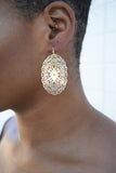 Golden Flat Metal Earring