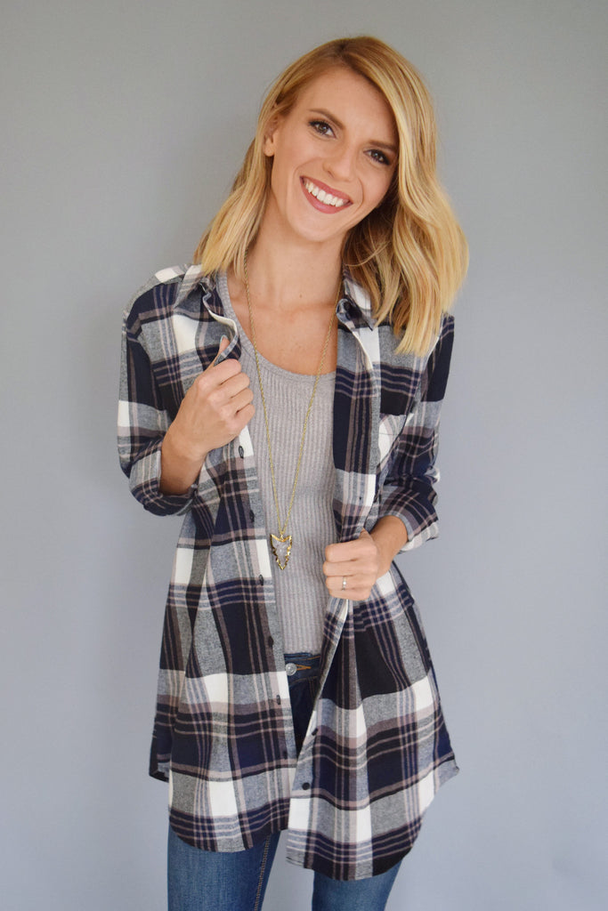 Chic Mountain Town Flannel Top