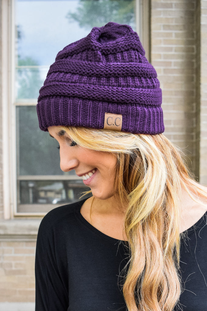 Trendy Online Powder Day Beanie Plum