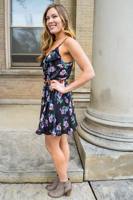 Trendy fresh florals summer dress
