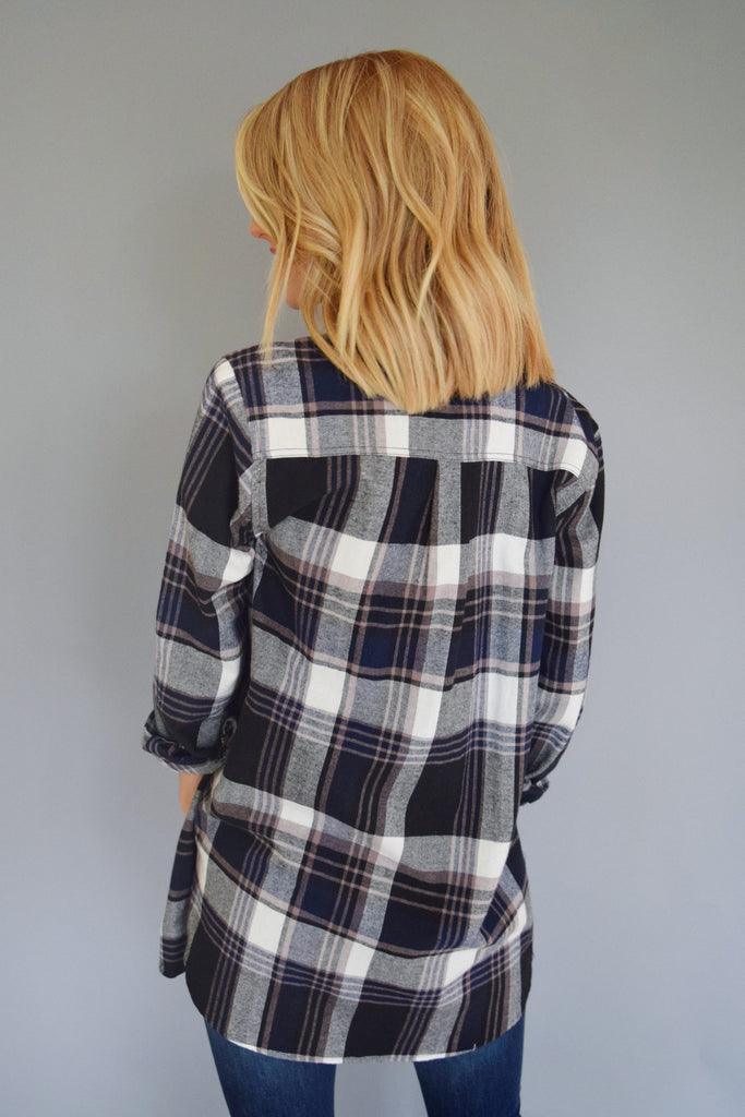 Colorado Chic mountain town flannel top