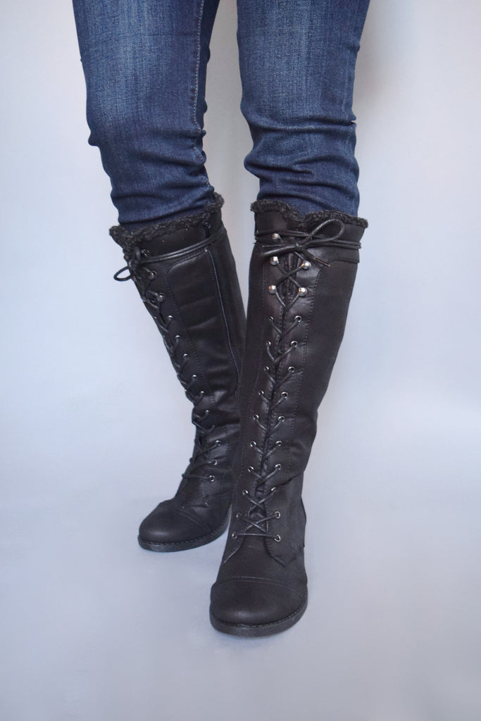 Womens Clothing Aspen Lace Up Boots Black