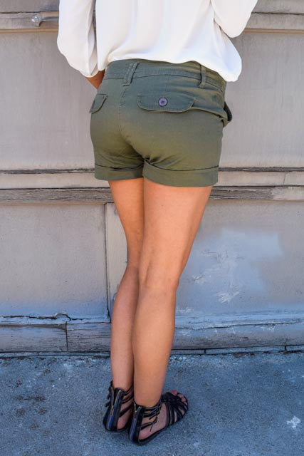 Cute Online olive you too shorts