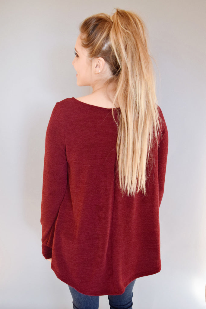 Cute granby sweater burgundy