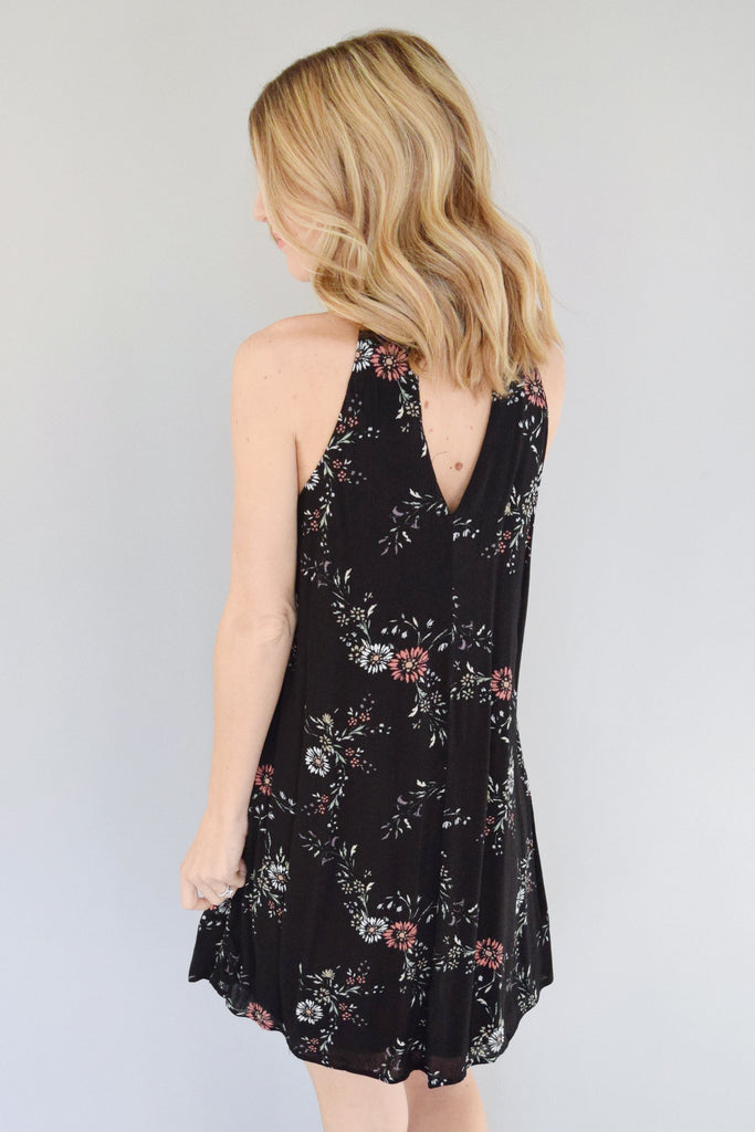 Sky Valley Black Floral Dress