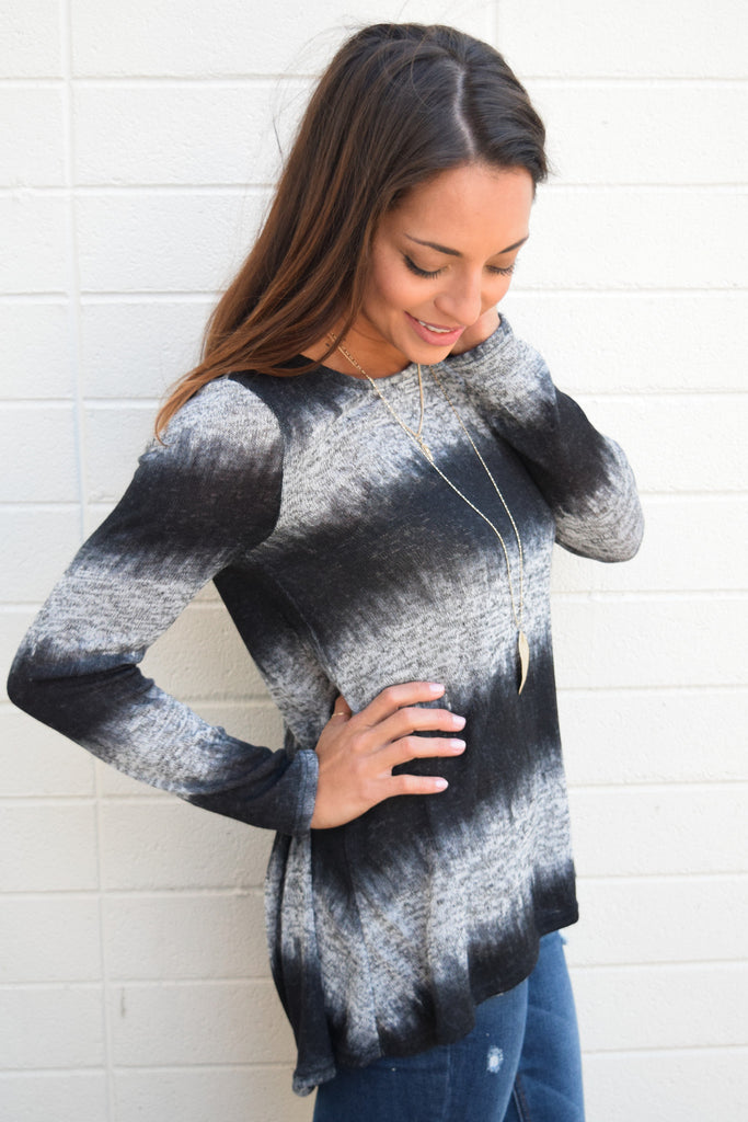 Trendy storm clouds long sleeve top