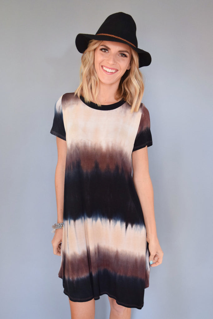 Affordable Online northern lights tee shirt dress