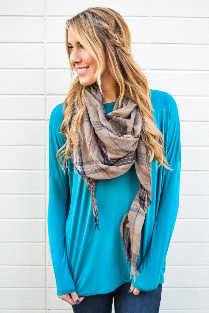 Colorado Chic Love to Lounge Long Sleeve Top Teal