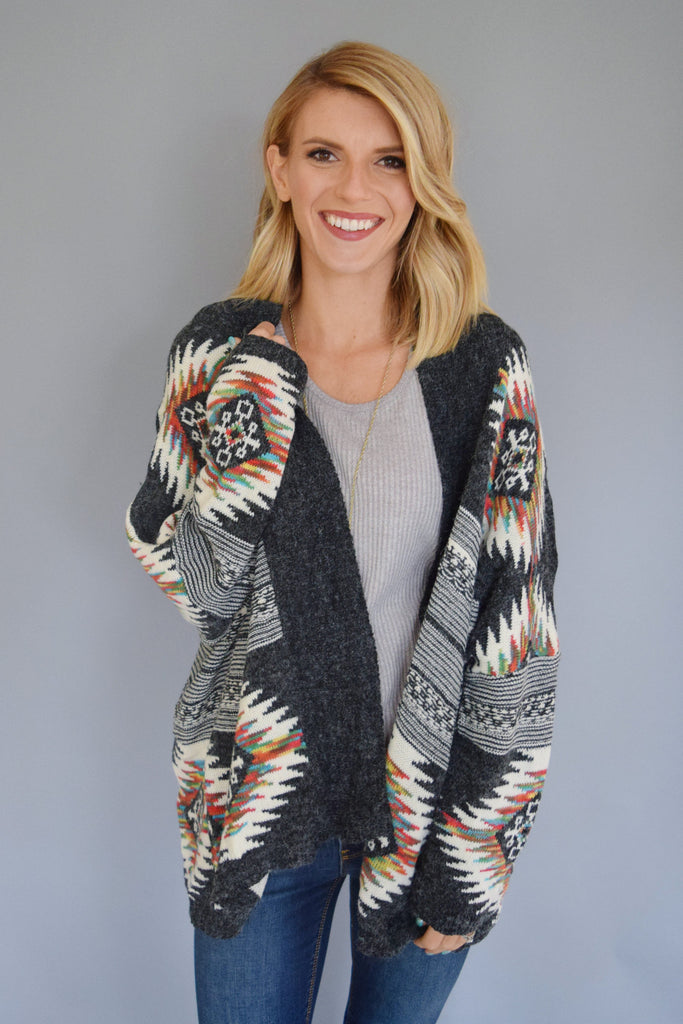 Chic rainbow trout cardigan
