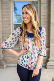 Affordable Multi Print Shift Top
