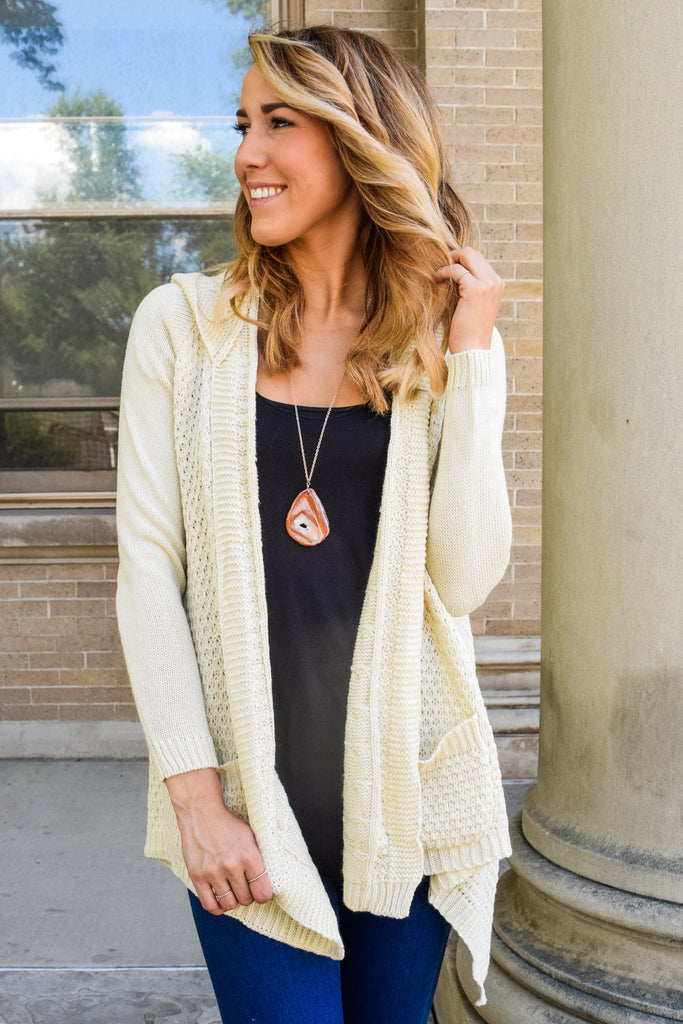 Cute Online That's A Wrap Hooded Cardigan
