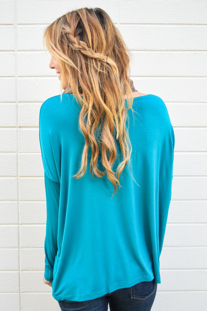 Womens Clothing love to lounge long sleeve top teal