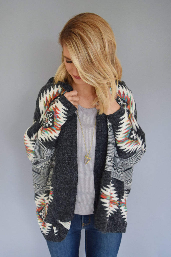 Colorado Chic rainbow trout cardigan