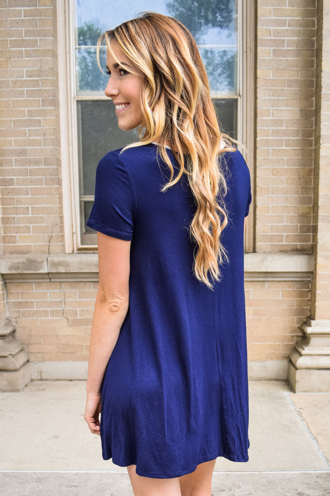 Cute Online streets of rome navy dress