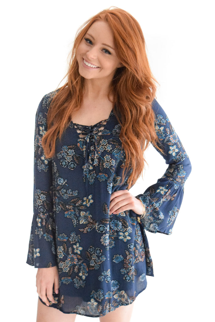 Staying True Floral Dress