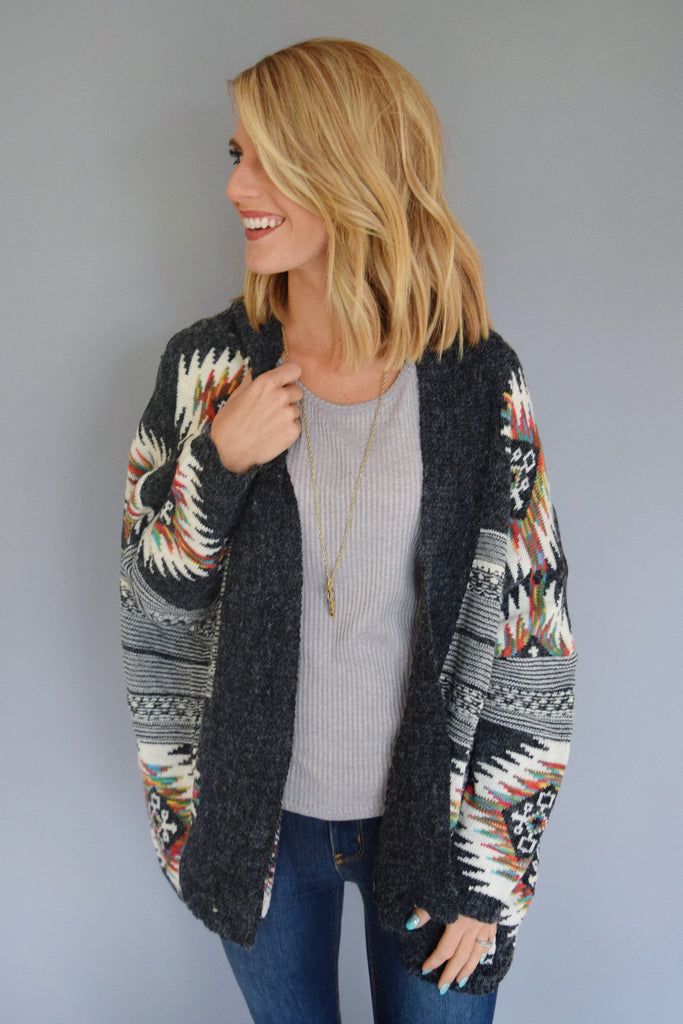 Trendy Online Rainbow Trout Cardigan