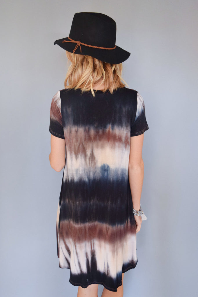 Chic northern lights tee shirt dress