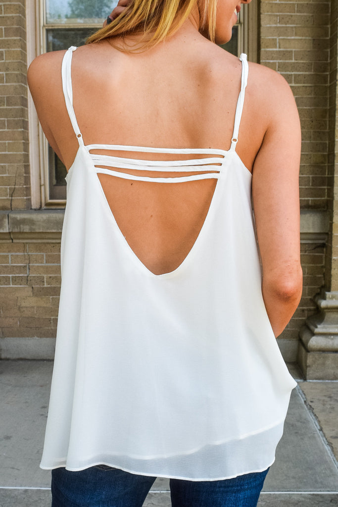 Colorado Chic white cut out cami tank