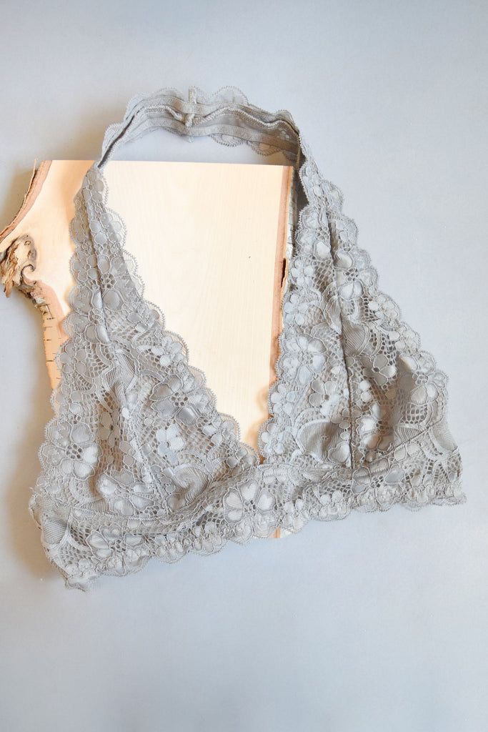 Affordable Online Cross My Heart Bralette Silver