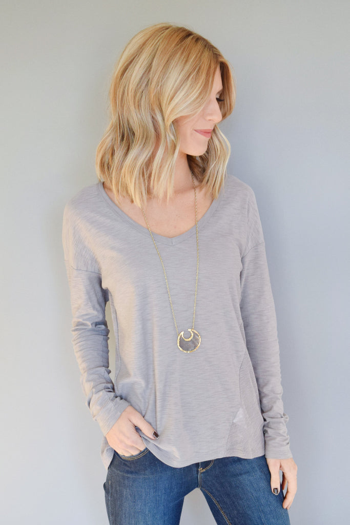 Womens Clothing mountain ridge long sleeve tee grey