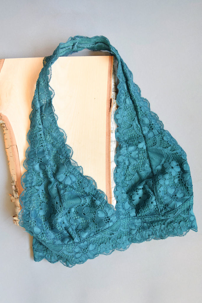 Colorado Chic Cross My Heart Bralette Teal