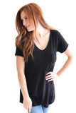 Travel Pocket V-Neck In Black