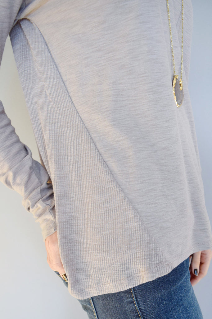 Affordable mountain ridge long sleeve tee grey