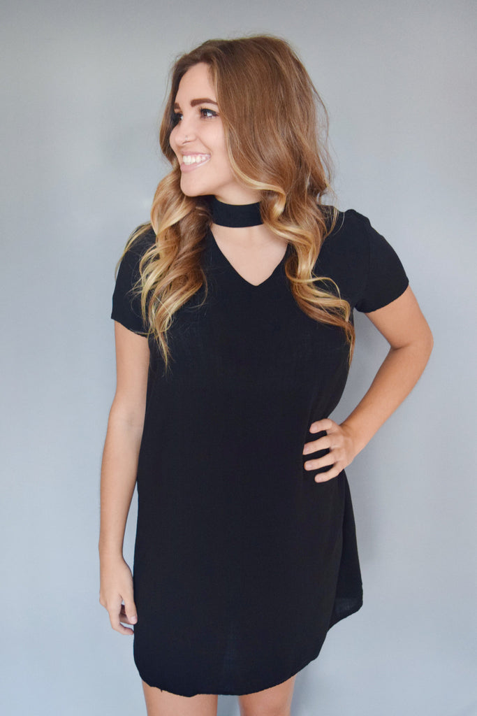 Womens Boutique full moon cutout dress black