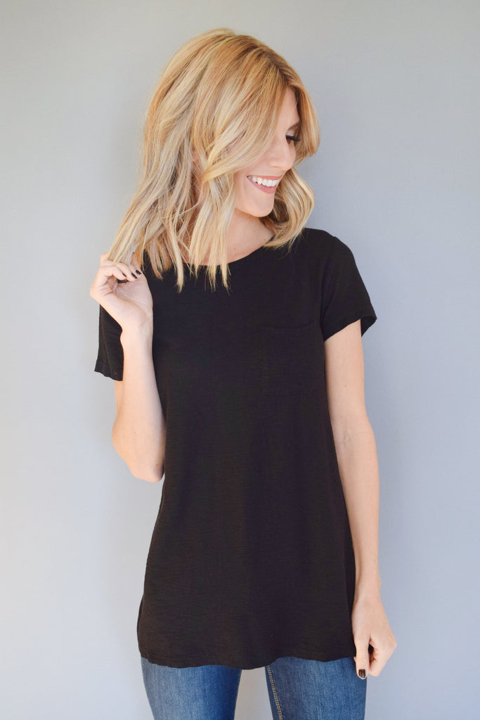 Womens Clothing City Lights Pocket Tee Black