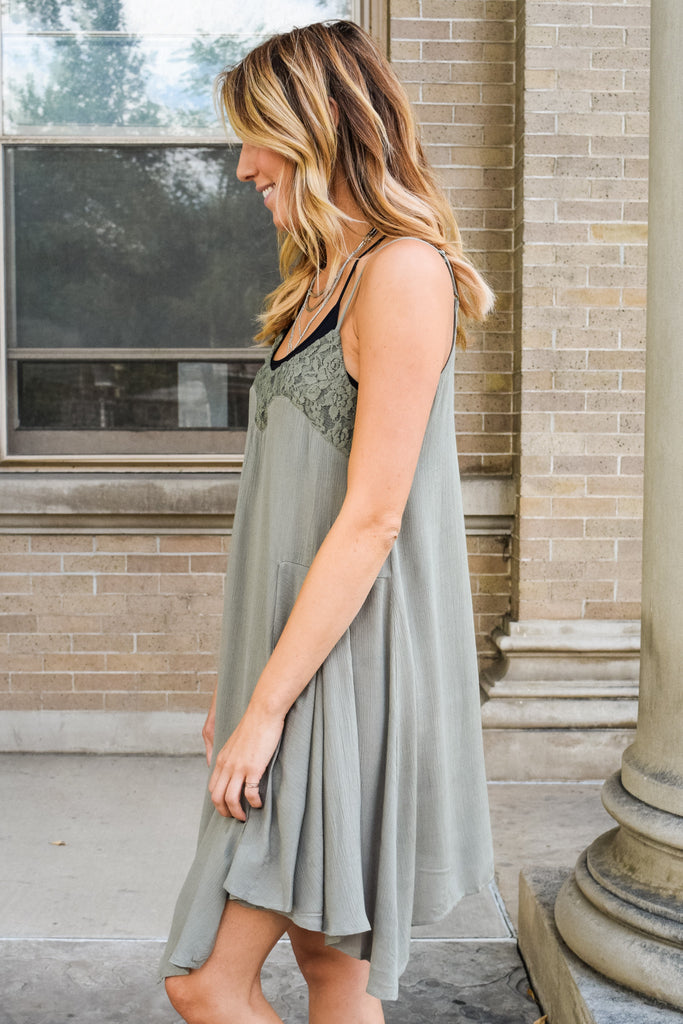 Cute Online sage garden slip dress