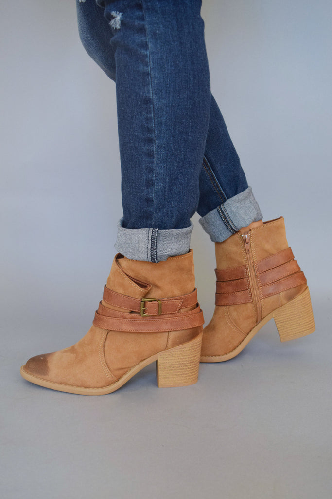 Womens Clothing Liverpool Wrap Boots Cognac