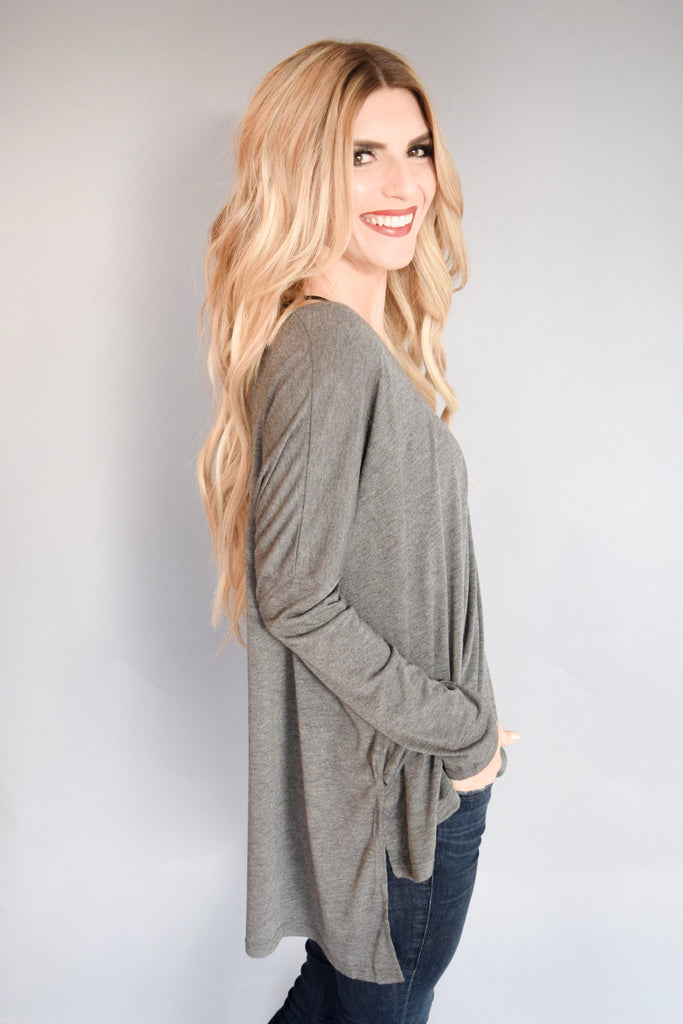 Womens Online copy of pocket tee long sleeve olive
