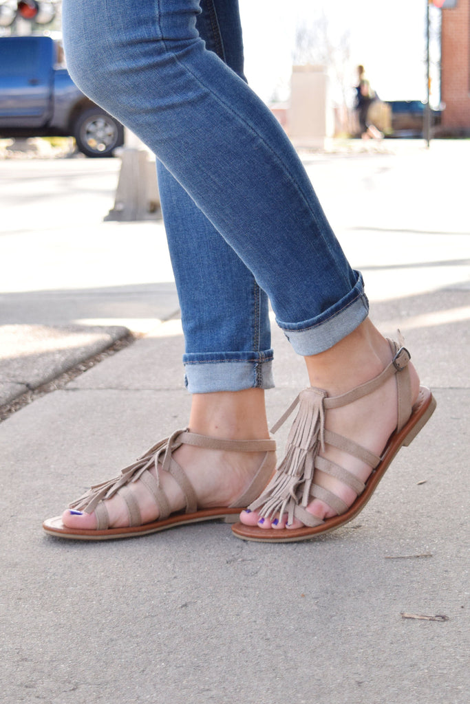 Affordable Online santorini fringe sandals
