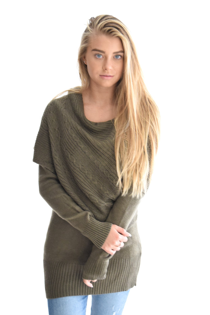 Days Together Sweater In Olive