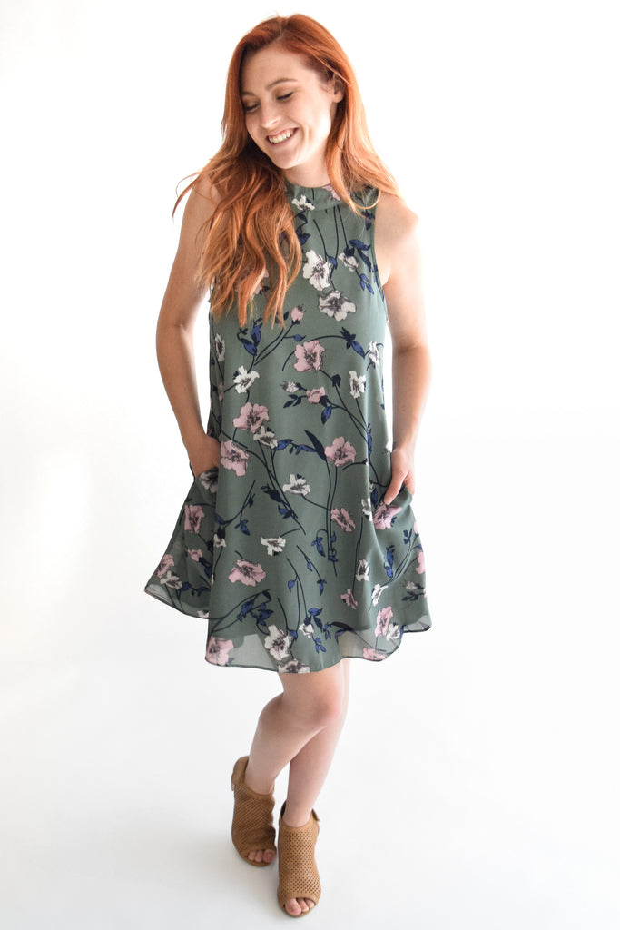 Mountain Field Dress In Sage
