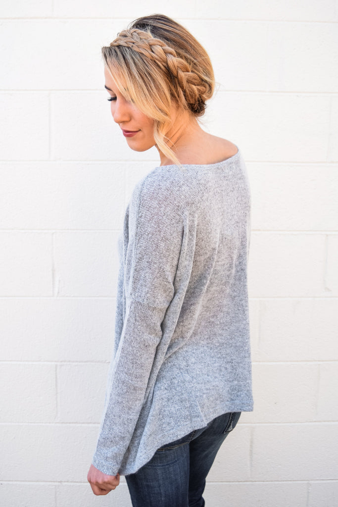 Colorado Chic simple and soft sweater heather grey