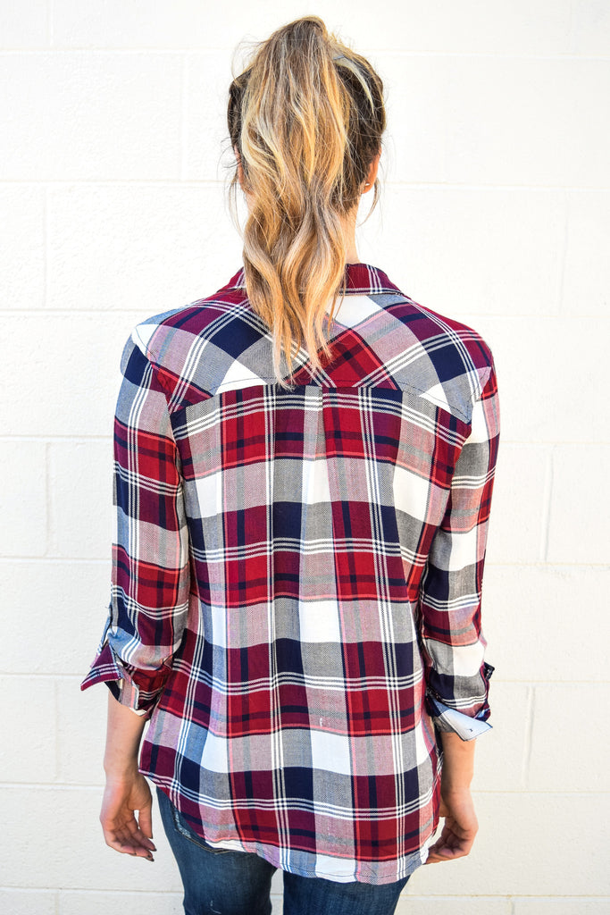 Colorado Chic american girl plaid button up