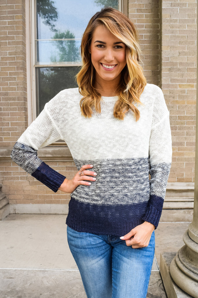 Womens Clothing started from the top navy sweater