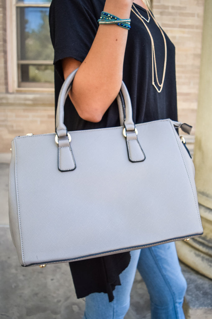 Affordable Online Grey Structured Shoulder Bag