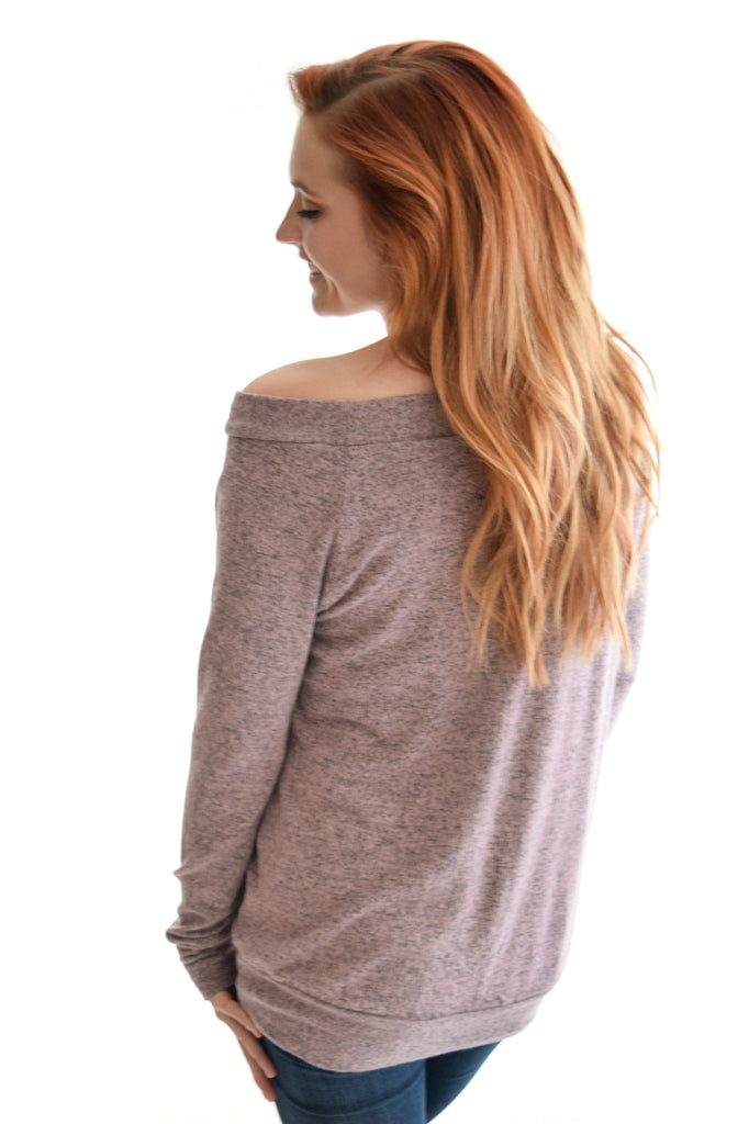 Morning Coffee Sweater In Mauve