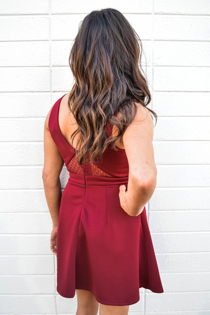 Colorado Chic holiday ready burgundy dress