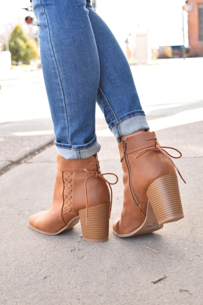 Affordable mullberry lace up bootie